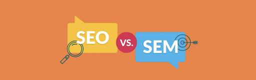 SEO vs SEM imagery